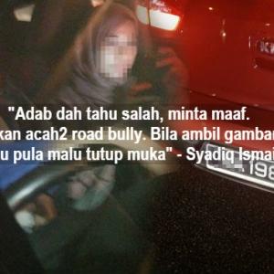 Biadab Punya Perempuan, Acah-Acah 'Road Bully' Pula Dia!
