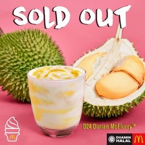 Tak Sempat Merasa! - Netizen Terkejut Aiskrim Durian McD 'Sold Out' Tak Sampai Seminggu