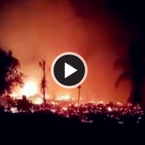 Geram Dihalau, Lelaki Bakar Rumah Sewa Sehingga Musnah 60 Kediaman Lain