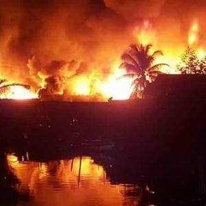 Menyanyat Hati! Kampung Nelayan Hangus, 41 Tinggal Sehelai Sepinggang