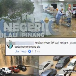 """""""Ini Semua Salah DAP, Punca Utama Pulau Pinang Banjir"""" - Netizen Politikkan Isu  Banjir"""