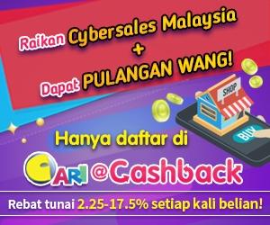 Dapatkan Pulangan Tunai Berganda Di Cari@cashback, Jadilah Kaki Shopping Yang Bijak!