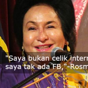 Takda Telefon Pintar, Tak Tahu Orang Kutuk Apa - Rosmah Mansor Dedah Rahsia Kebahagiaan