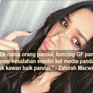 Terima Kasih Jadikan Saya 'Badut' - Zahirah Macwilson Angin Dengan Kamal Adli