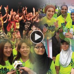 Zumba Watsons, Paling Besar Di Malaysia! Adik Sampai Ke Makcik Seronok Menari