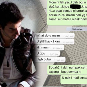 Minta Hantaran RM25k, 'Playgirl' Kantoi Mesej Lucah Berjemaah