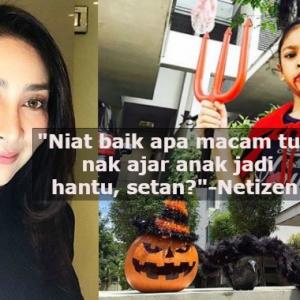"""Niat Tak Halalkan Cara Kak Oi,""- Rita Rudaini Kena Tarbiah Benarkan Anak Sambut Halloween"
