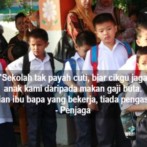 """Baik Jaga Anak Kami Dari Makan Gaji Buta"" - Penjaga Tak Bagi Cikgu Cuti"