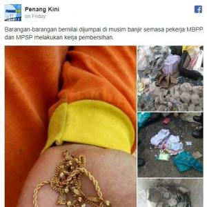 Penemuan Duit Berkepuk, Barang Kemas Di Celah Kawasan Banjir Buat Netizen Ternganga...