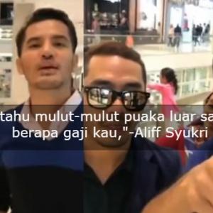 """Hei Mulut Puaka, RM 10 Ribu Okay,""-  Aliff Syukri Tayang Gaji Bodyguard Pula"