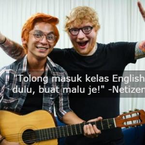 """Buat Malu Malaysia Je Depan Ed Sheeran,"" -Jaa Suzuran Dikutuk Tak Pandai English"