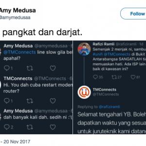 """""""Kalau YB Terus Nak Hantar Technician, Kami Rakyat Biasa Disuruh Restart Modem"""" - Netizen Kesal"""
