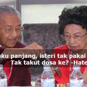 Tudung Mana, Wuduk Sah Tak Tu?-Gambar Romantis Tun Mahathir Dicemari Komen Haters