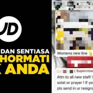 Larang Pekerja Islam Tunai Solat, Penyelia Dipecat