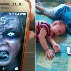 Cukup-Cukuplah Bodohkan Anak Kecil Dengan Gambar Wajah Hantu Di Skrin Telefon
