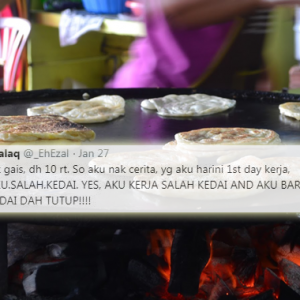 """""""Kedai Dah Tutup Baru Tahu Kerja Di Kedai Salah!"""" - Netizen 'Koyak' Baca Kisah Lucu Ini"""