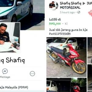 Menyamar Jadi Polis Untuk Menipu Di Laman Sosial