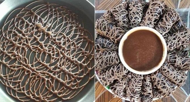 Roti Jala Sos Coklat – Versi Baru Yang Jadi Kegilaan Sekarang