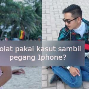 Solat Siap Berkasut, Sambil Pegang Iphone X- King Afiqq Sengaja Minta Dicemuh?