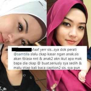 """""""Malu Tengok Kapsyen Sis,""""- Ditegur Cakap Kasar Dengan Anak, Syatilla Melvin Balas Balik!"""
