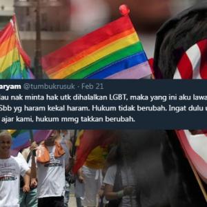 """""""Kita Kena Lawan LGBT Ke? Aku Prefer Jalan Tengah""""- Tweet Lelaki Ini Undang Perbalahan"""