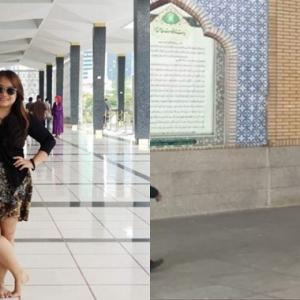 Ingin Perhatian, Maryam Sengaja Pakai Skirt Masuk Masjid