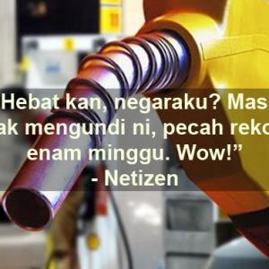 'Boleh Pula Harga Minyak Kekal 6 Minggu! Adakah Rakyat Kena Kencing?' - Netizen
