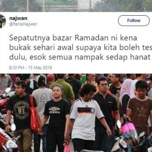 """""""Sepatutnya Bazar Ramadan Buka Sehari Lebih Awal,""""-Idea Lelaki Ini Memang Win"""
