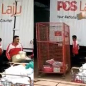 Pekerja Pos Malaysia Buat Hal, Campak Barang Pelanggan