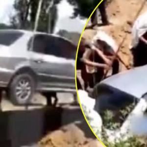 Tak Nak Masuk Keranda, Lelaki Dikebumikan Dalam Kereta