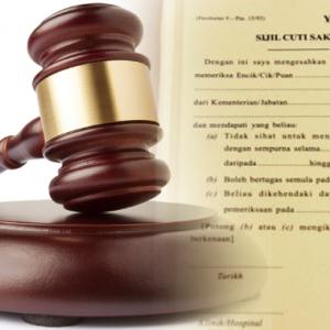 Didakwa Guna MC Palsu, Polis Bantuan Mohon Jaminan Rendah Nak Sambut Raya