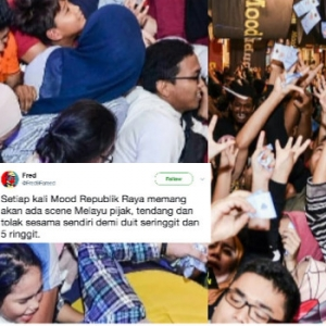 Kerana RM1 Dan RM5, Pengunjung Berebut Seperti Ayam - Mood Republic Biadab?