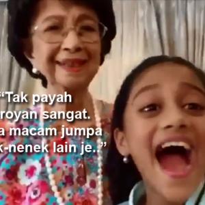Tun Hasmah Sporting Habis Main Tik Tok Dengan Penyanyi Cilik! Cemburu Tak?