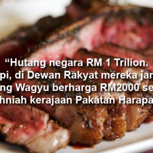 Parlimen Jamu Daging RM2,000? Wagyu Kan Banyak Jenis, Jangan Membawang Je!