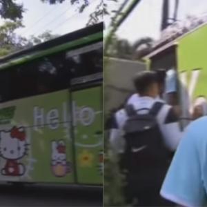 """Motif Bagi Bas Hello Kitty Pada Team Malaysia?"" - Netizen Kecam 'Permainan Minda' Indonesia"
