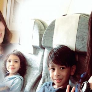 Kongsi Gambar Anak Solat, Netizen Terharu Rita Rudaini Pandai Didik Anak