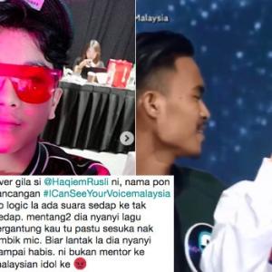 Haqiem Rusli Buat Hal Lagi, Kali Ni Rampas 'Mic' Peserta I Can See Your Voice Malaysia