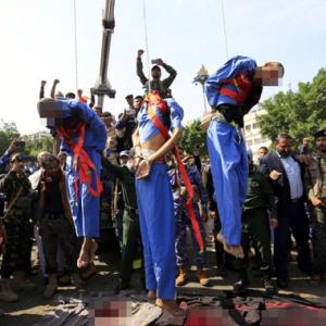 3 Pedofil Ditembak Mati, Digantung Di Khalayak Ramai