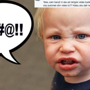 Video Kanak-Kanak Tu Bukan Lucu, Tapi Biadab - Netizen Kecam