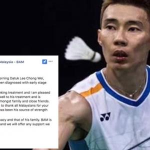 Presiden BAM Sahkan Lee Chong Wei Hidap Kanser Hidung