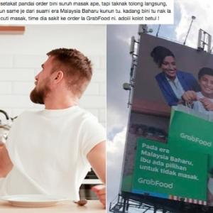 Gara-Gara Iklan Billboard Grab, Netizen Berbalah Isu Isteri Baru Dan Lama