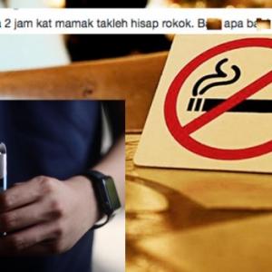 Tak Nak Hidu Asap Rokok, Makan Kat Rumah! Restoran Memang Tempat Kami - Perokok
