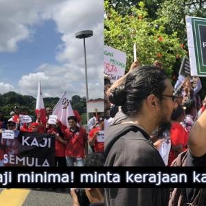 Nak Gaji Minima RM 1800! Rakyat Berdemo Di Parlimen Tapi Dihentam Pula Di Media Sosial
