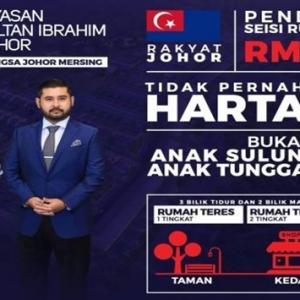 Rumah Impian Bangsa Johor Ditawarkan Serendah RM70,000- TMJ