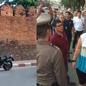 Menconteng Tembok, Dua Pelancong Berdepan Penjara 10 Tahun Di Thailand
