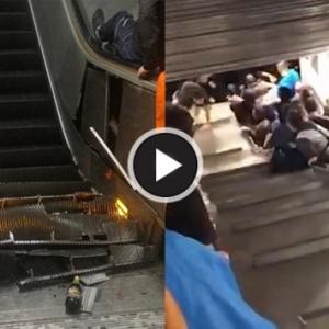 Eskalator Di Stesen Kereta Api Bawah Tanah Runtuh, 20 Cedera Dan Seorang Lagi Parah
