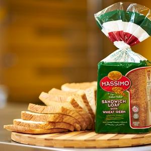 Massimo Perkenalkan Roti Sandwic Dengan Germa Gandum, Lebih Sedap Dan Sihat