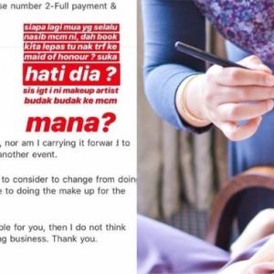 Klien Tanya Melalui Emel Tak Dibalas, Tetapi MUA Terkenal Ini Mengamuk Di Instagram!