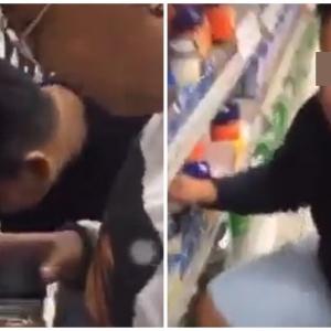 Remaja Biadab, Celup Jari Dalam Bekas Jem Di Pasar Raya