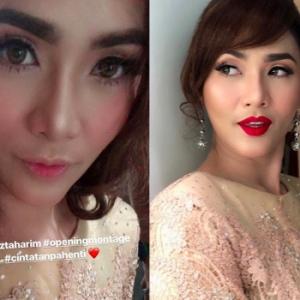Merahnya Mak Ngah! Bibir Elizad Sharifuddin Nampak Lain Sebab Warna Atau Suntik?